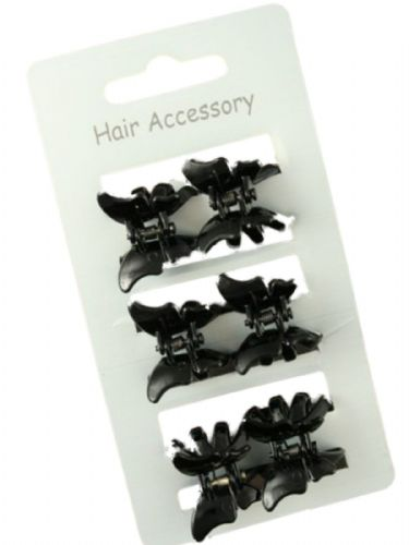 Butterfly Mini Hair Claw Clips Clamps - Set of 6